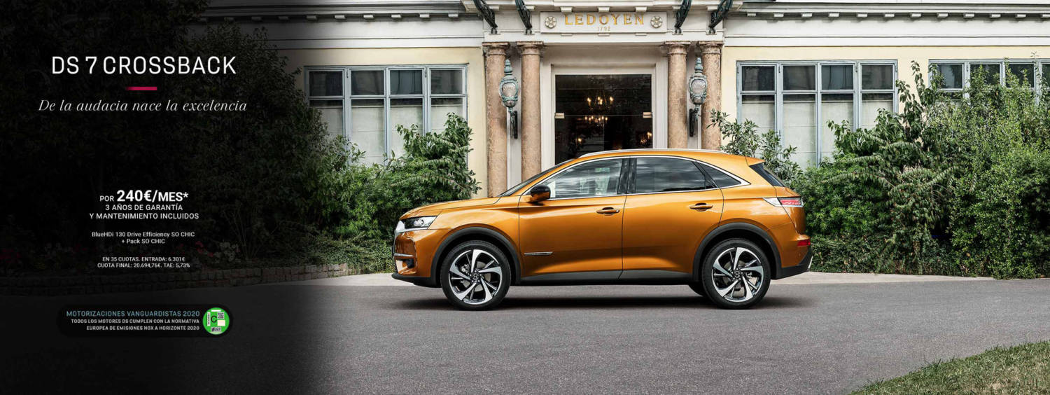 DS 7 Crossback por 240€/mes
